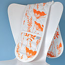 Cow Parsley Design Oven Gloves