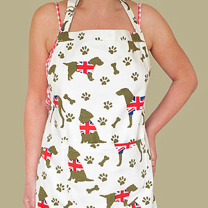 Union Jack Dog Design Apron - kitchen accessories