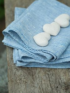 Francesca Melange Linen Hand And Guest Towels - bed, bath & table linen