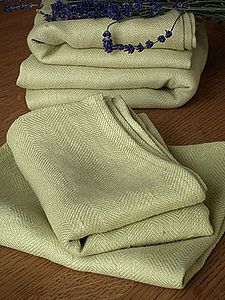 Lara Huckaback Linen Hand And Guest Towels - towels & bath mats