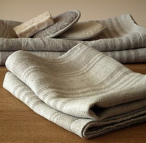 Linum Huckaback Linen Hand And Guest Towels - towels & bath mats