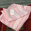 Various Colours Linen Hand Towels Multistripe