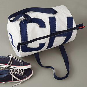 Personalised Sailcloth Kit Bags - holdalls & weekend bags
