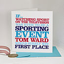 Personalised 'First Place' Card