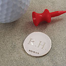 Silver Golf Ball Marker
