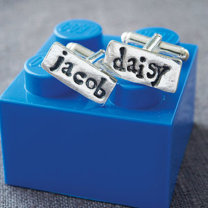 Personalised Silver Name Cufflinks - for fathers