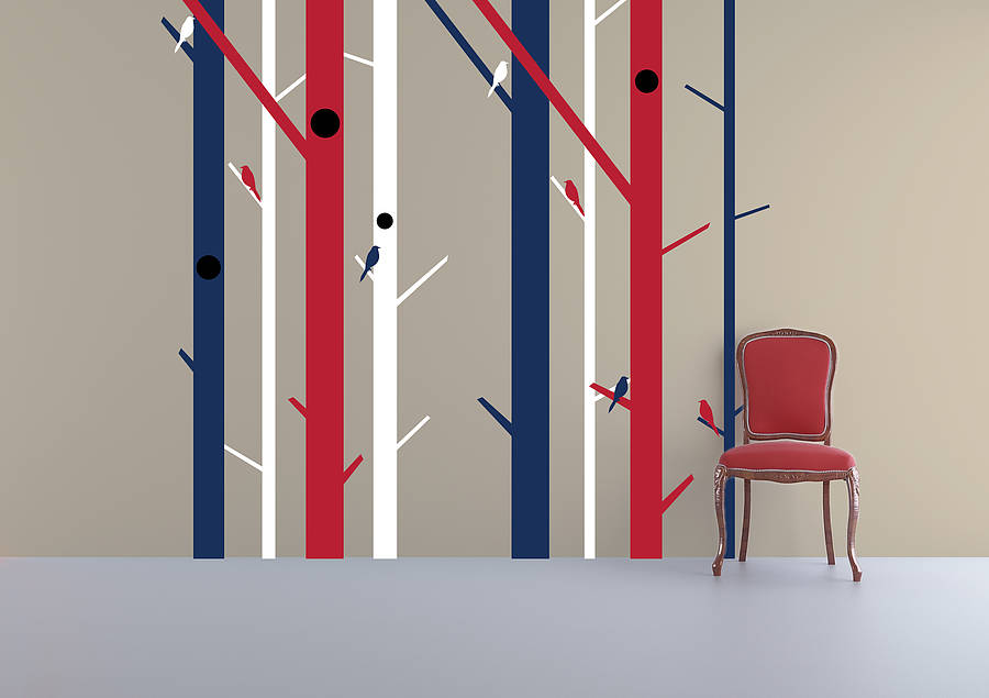 abstract trees wall sticker by zazous notonthehighstreet com home decor trees collection wall stickers by zazous