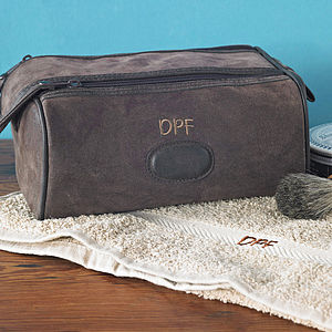 Personalised Men's Wash Bag - men's grooming