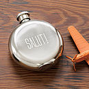 'Salut!' Hip Flask