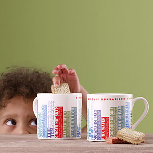 'Biscuit Dunkability' Mug - stocking fillers under £15