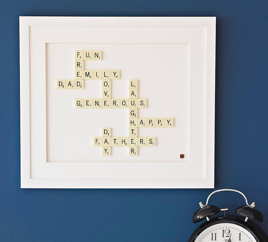 personalised scrabble® art by copperdot | notonthehighstreet.com
