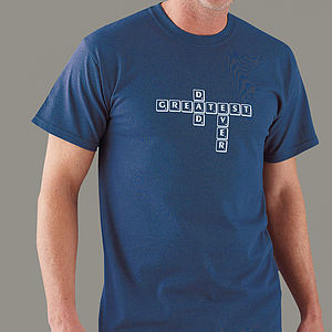 Personalised Men's Word Tile T Shirt - men at play