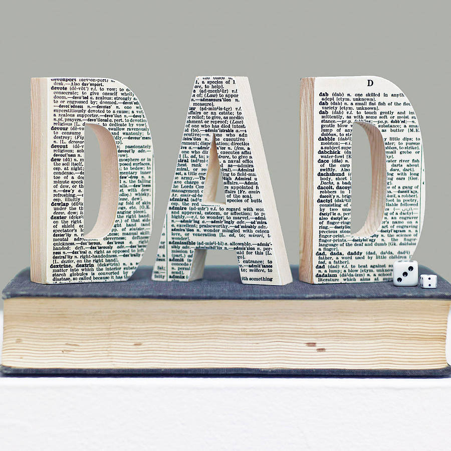 Dictionary Decorative Wooden Letter Gift For Him