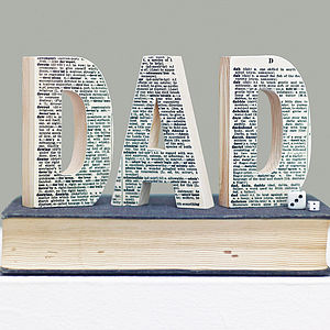 Vintage Dictionary Decorative Wooden Letter - children's room accessories