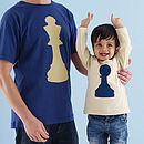 King And Pawn Chess Tshirt Set