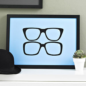 Two Ronnies Glasses Screen Print - black friday sale