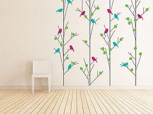 English Summer Trees Wall Sticker - bedroom