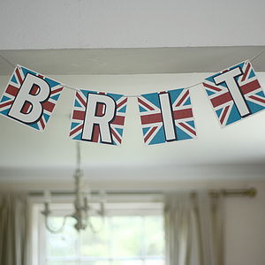 Personalised Union Jack Card Bunting - bunting & garlands