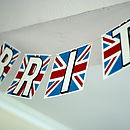 Personalised Union Jack Card Bunting