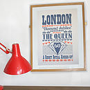 Queen's Diamond Jubilee Screen Print