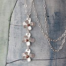 Silver Flower Posy Necklace