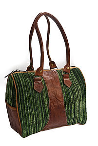 Handmade Buffalo Leather Cherish Bag Green