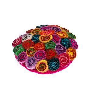 Handmade Felt Multicoloured Rainbow Brooch - women's accessories
