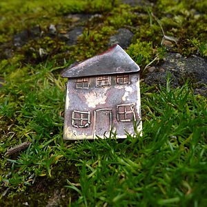 Bronze Cottage Brooch - women's jewellery
