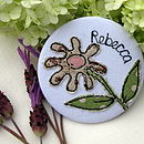 Personalised Daisy Handbag Mirror
