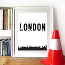 London Skyline Sports Print Or Canvas