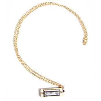 Miniature Fully Working Harmonica Necklace