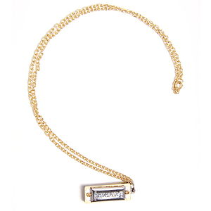 Miniature Fully Working Harmonica Necklace - necklaces & pendants