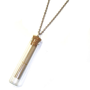 Message In A Bottle Glass Tube Necklace