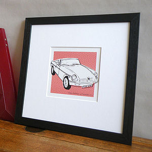 Bespoke Car Illustration - gifts for him