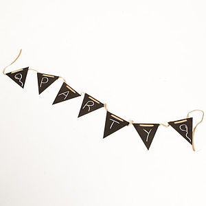 British Blackboard Bunting - parties