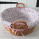 Red Trellis Wicker Laundry Basket