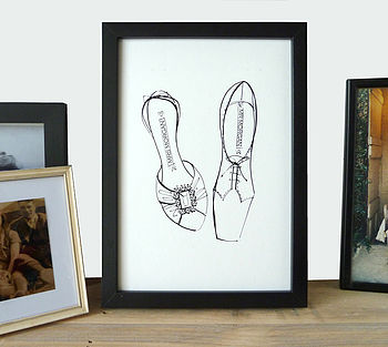 Personalised His And Her's Shoe Print