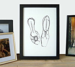 Personalised His And Her's Shoe Picture - wedding gifts
