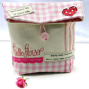 Personalised Embroidered Beauty Bag - bathroom