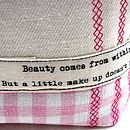 Personalised Embroidered Beauty Bag