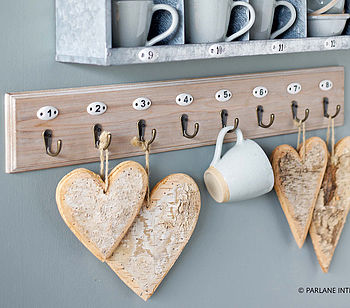 Wooden Numbered Hooks