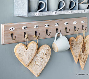 Wooden Numbered Hooks - children's room accessories