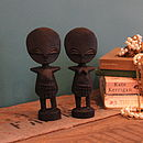 Ashante Wooden Doll Set Of Two Small