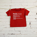 Personalised Definition T Shirt Set
