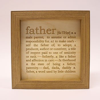 Definition Of Father Engraving