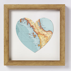 Langkawi Map Heart Print