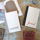Linen Map Travel Journals