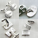 Silver Frosted Concave Cufflinks