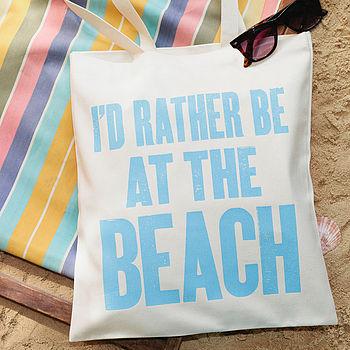'At The Beach' Tote Bag