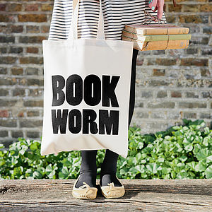 'Book Worm' Tote Bag - literary inspired gifts